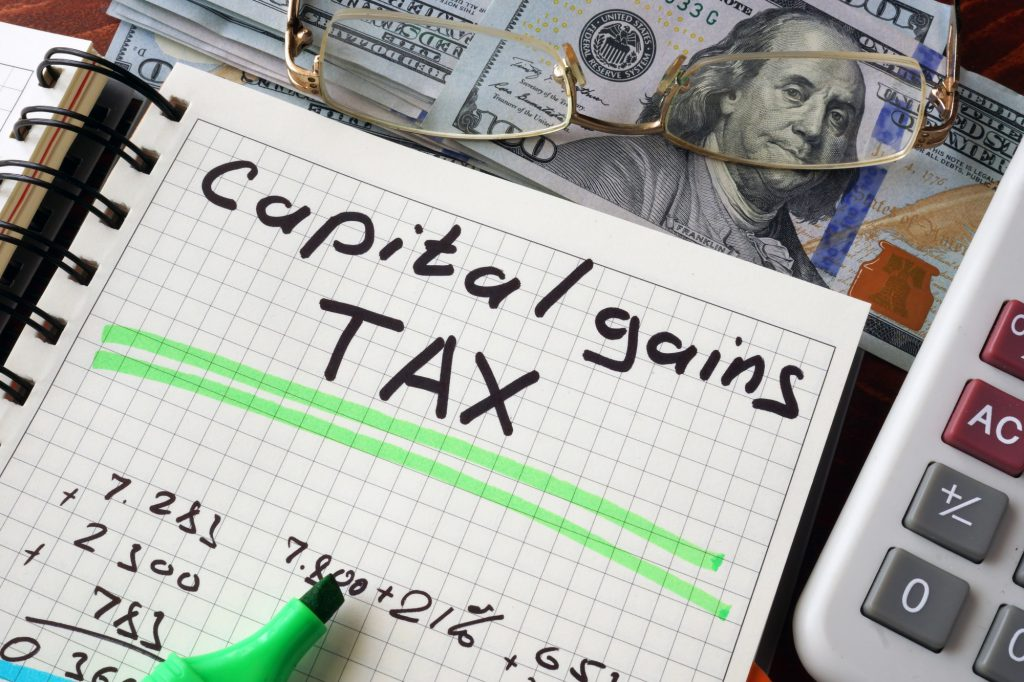 capital gains tax on inherited property